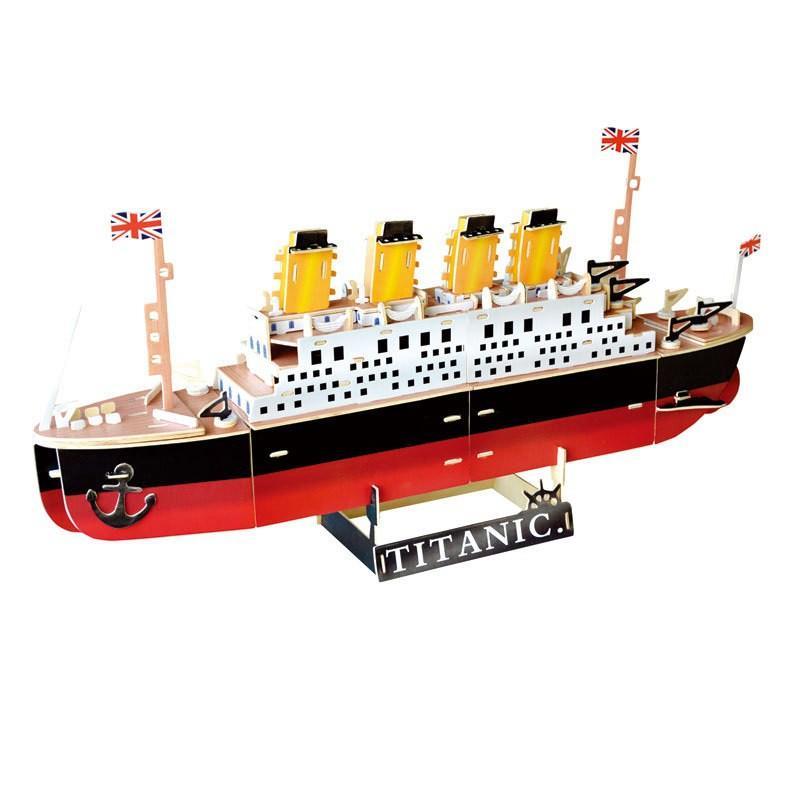 Đồ chơi lắp ráp gỗ 3D Mô hình Tàu Titanic G-W025 - Tặng kèm đèn LED USB trang trí