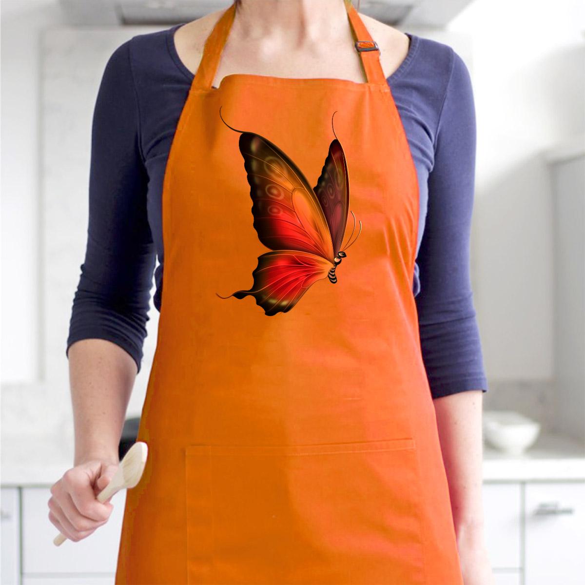 Tạp Dề Làm Bếp In Hình Bướm Nghệ Thuật  Tuyệt Đẹp - Mẫu016