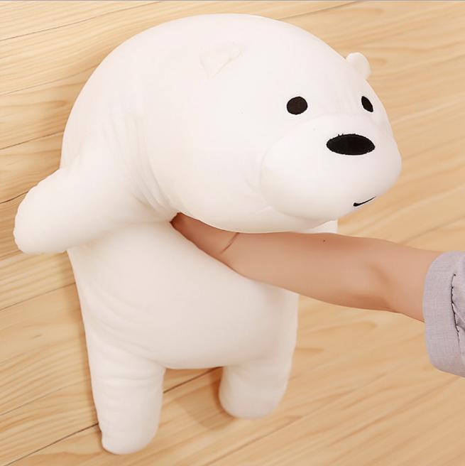 Gấu trắng we are bear nằm nhồi bông size 65cm