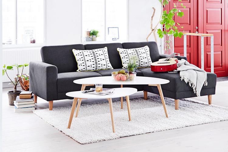 Bàn Café Lejre Plus JYSK 3602023 (60 x 120 x 45 cm)