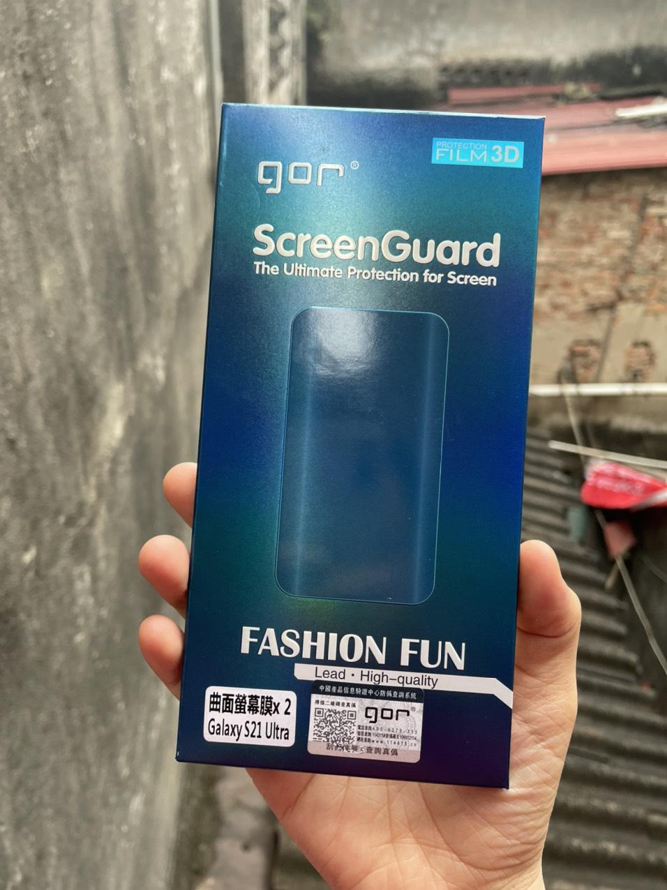 Miếng dán dẻo  3D Gor Samsung Galaxy S21 Ultra - Hàng nhập khẩu