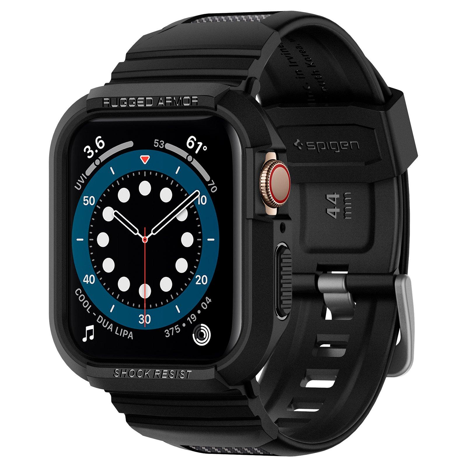 Ốp chống sốc hàng hiệu Spigen Rugged Armor Pro cho Apple Watch Series 6/ 5/ 4 - Hàng chính hãng