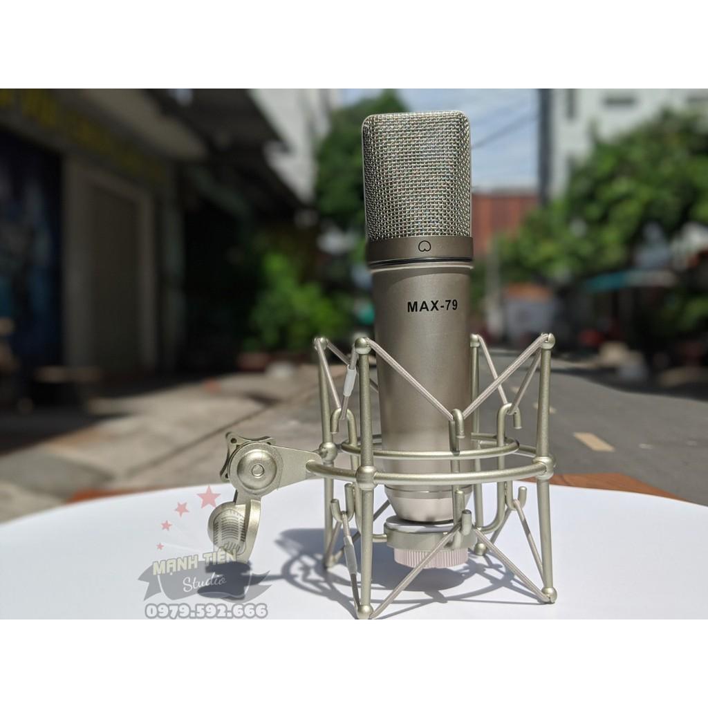 Micro thu âm cao cấp MAX 79 - Mic thu âm hát karaoke online chuyên nghiệp - Chống hú, chống nhiễu, hút âm cực tốt - Hàng chính hãng