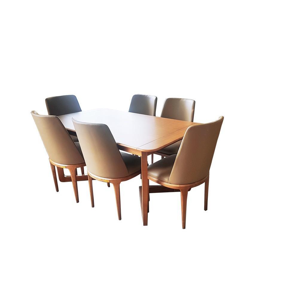 Bộ bàn ghế ăn cho nội thất phòng bếp, bàn ăn Status - 6 ghế Curved không tay  Nội thất bmd