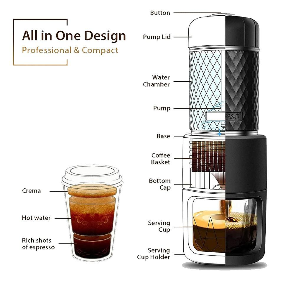 STARESSO BASIC - Máy pha Espresso cầm tay (bản thường)