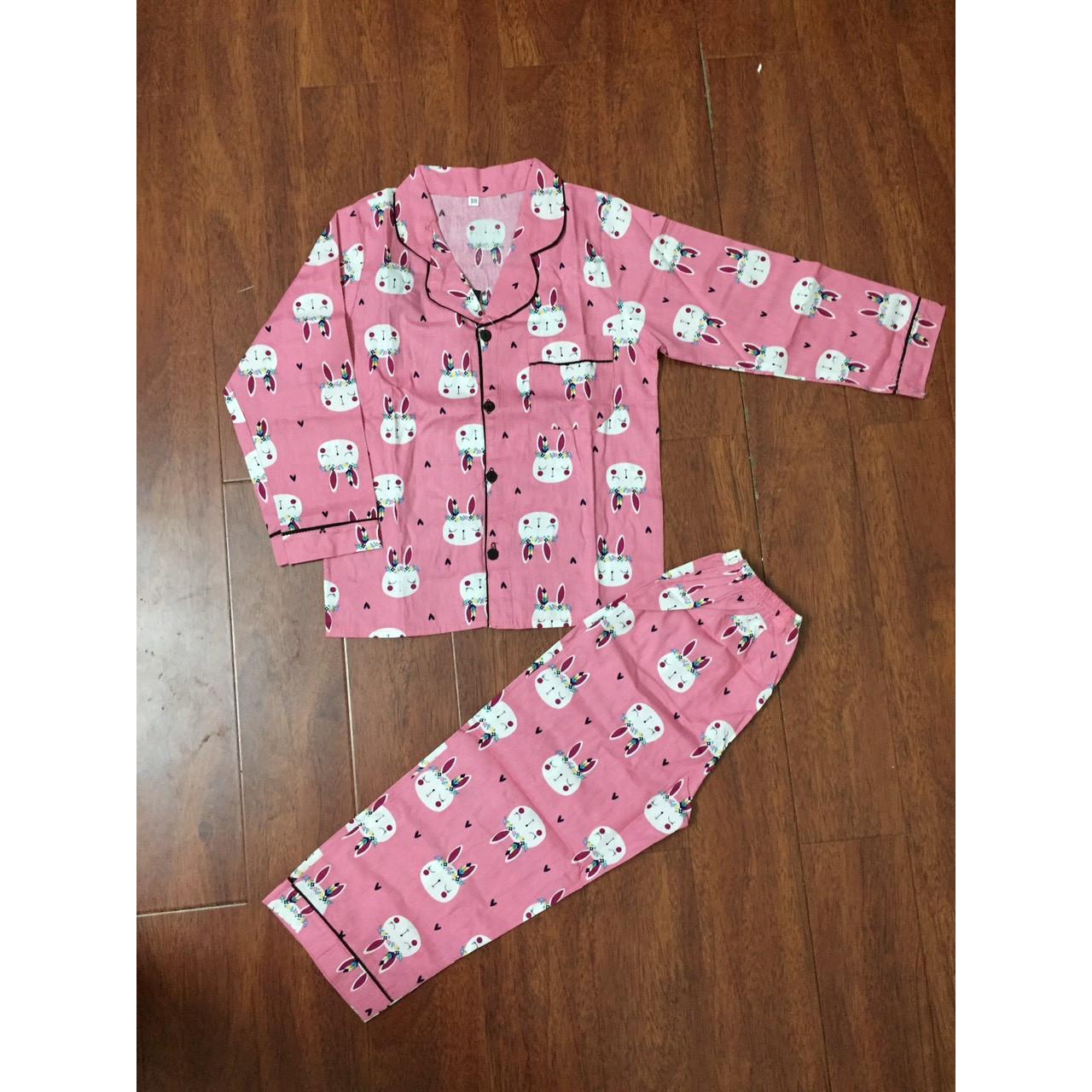 Bộ Pijama dài tay  cho bé traibé gái chất thô hàn cực đẹp