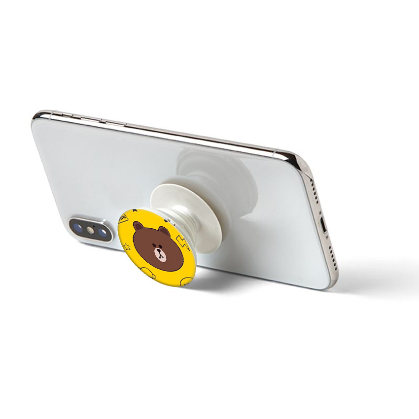 Gía đỡ điện thoại đa năng, tiện lợi - Popsockets - In hình BROWN 16 - Hàng Chính Hãng