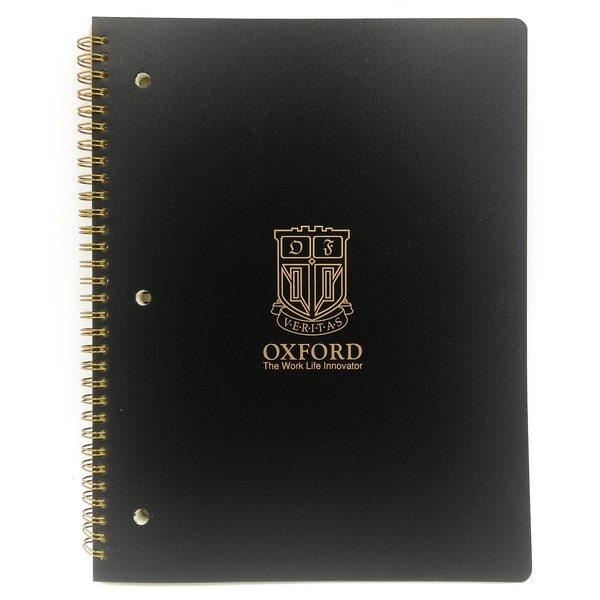 Sổ Lò Xo Oxford Đen Letter Sidebinding 80'S - D126LT