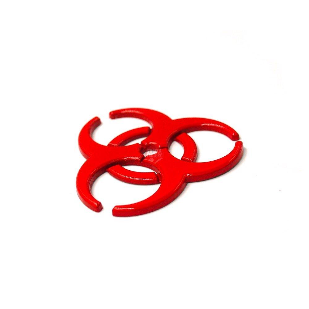 ZOMBIE OUTBREAK logo đỏ - Sticker hình dán metal kim loại 3D