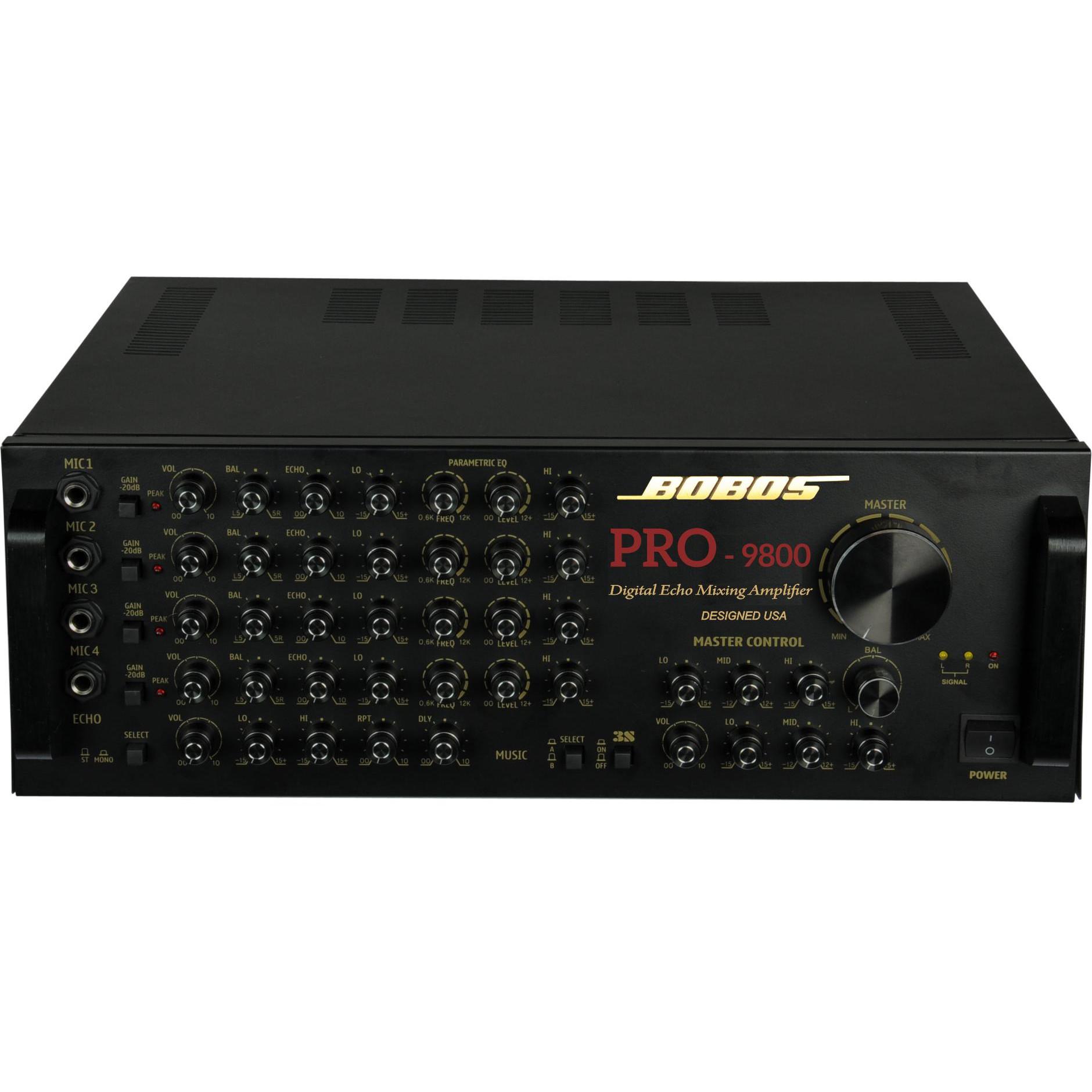 Amply karaoke BOBOS PRO-9800 (Hàng chính hãng)