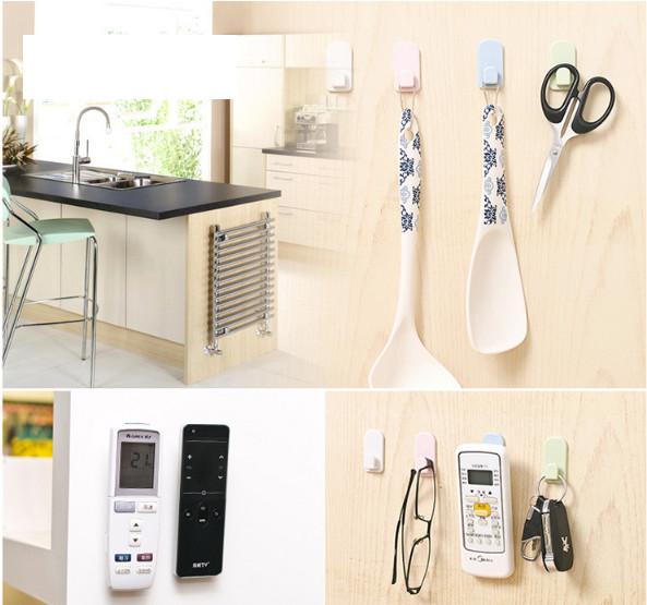 Bộ 4 nút dán treo remote máy lạnh đa năng, treo remote tivi tiện dụng cho không gian nhà bạn thật gọn gàng GD252-TreoRML