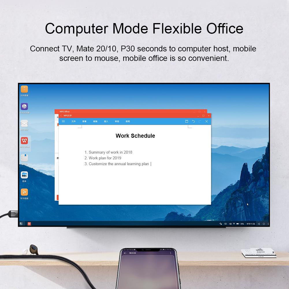 Cáp chuyển đổi Hagibis USB TypeC to HDMI 4K/60Hz - Hàng nhập khẩu