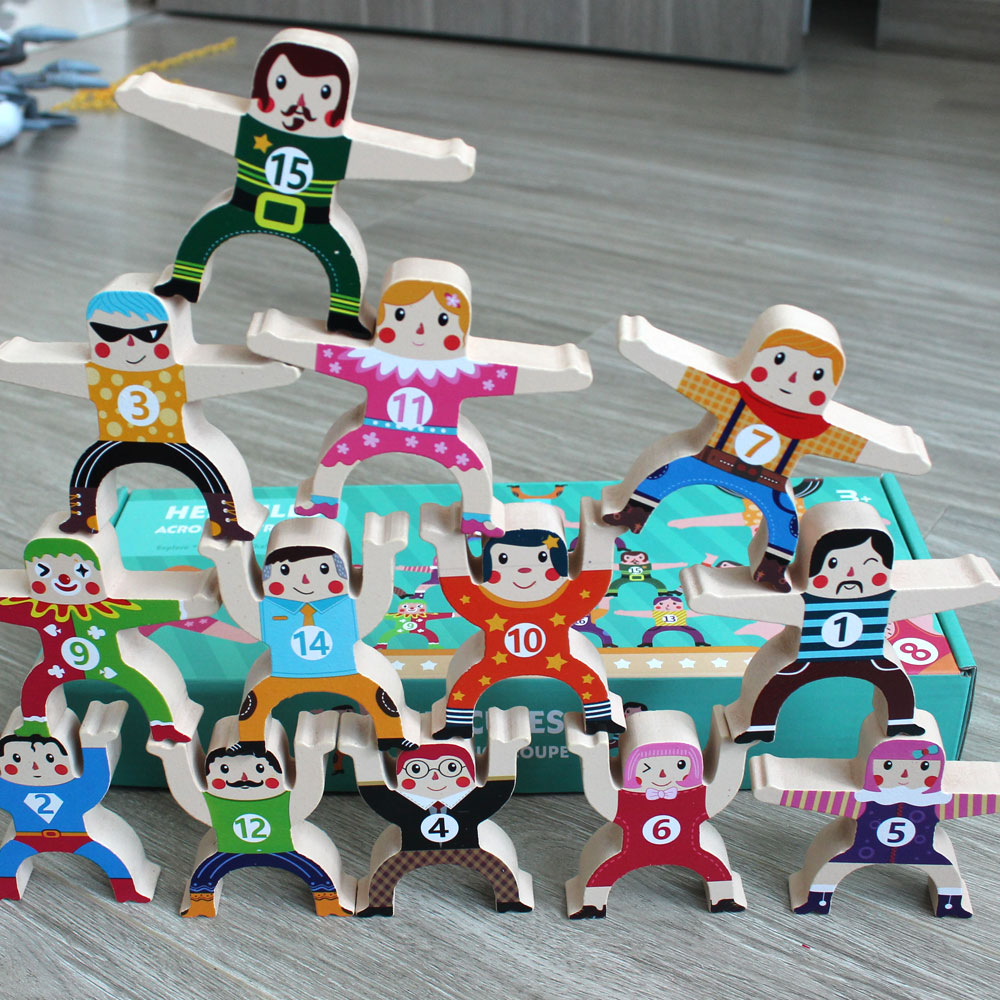 Đồ chơi trẻ em bằng gỗ Bộ Lắp Ráp Thăng Bằng Giúp Bé Khả Năng Tập Trung, Khéo léo