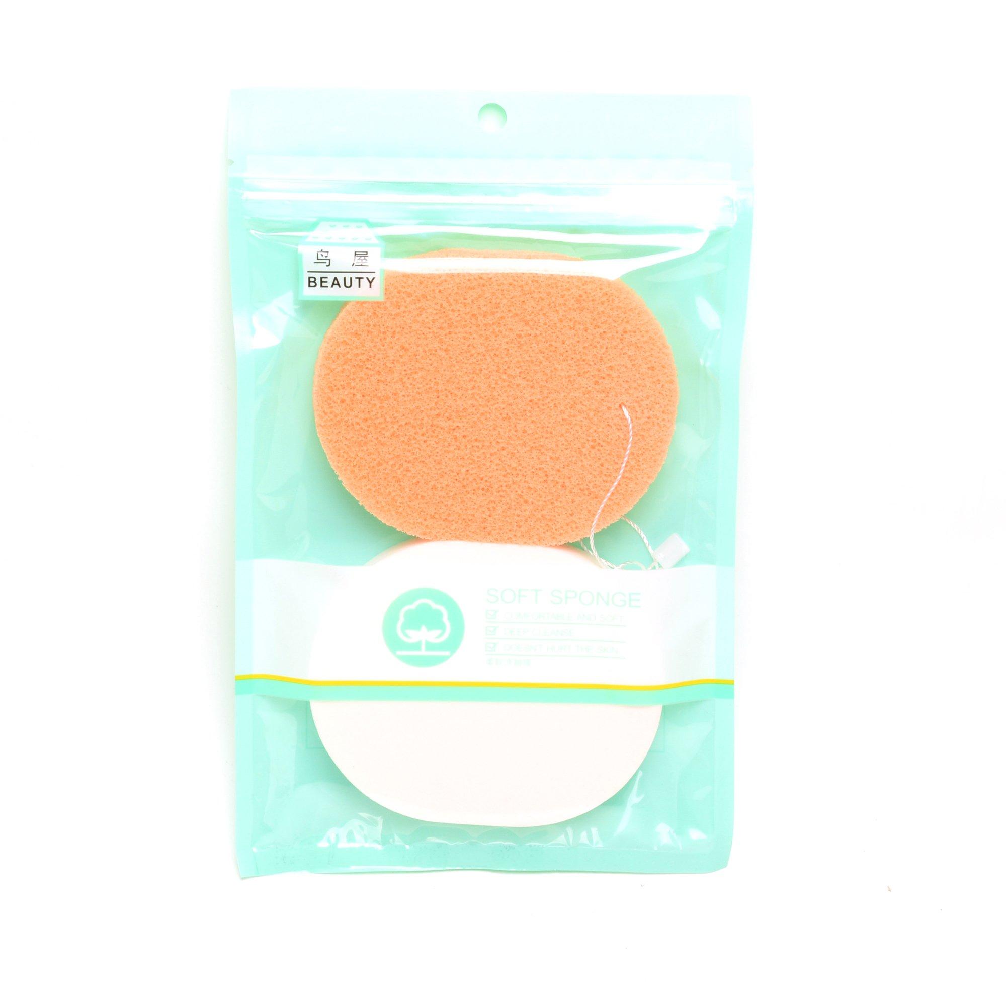 Cọ Rửa Mặt 2 Đầu 3D Massage Và Bông Mút Rửa Mặt Bọt Biển Làm Sạch Sâu ONC216 - Hàng Chính Hãng