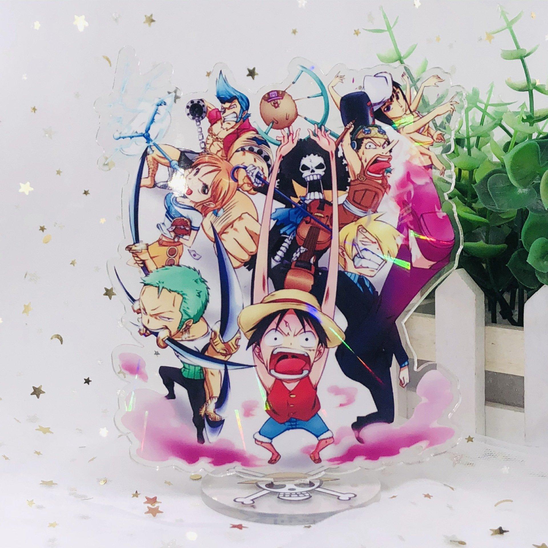 Standee ONE PIECE ĐẢO HẢI TẶC VER VẼ CHIBI Tượng Acrylic Standee Anime mica chibi trang trí trưng bày mô hình (MẪU GIAO NGẪU NHIÊN)