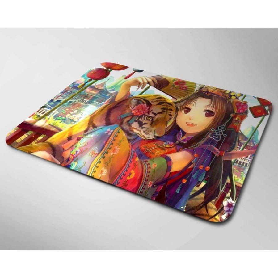 Miếng lót chuột mẫu Anime và Hổ (20x24cm)
