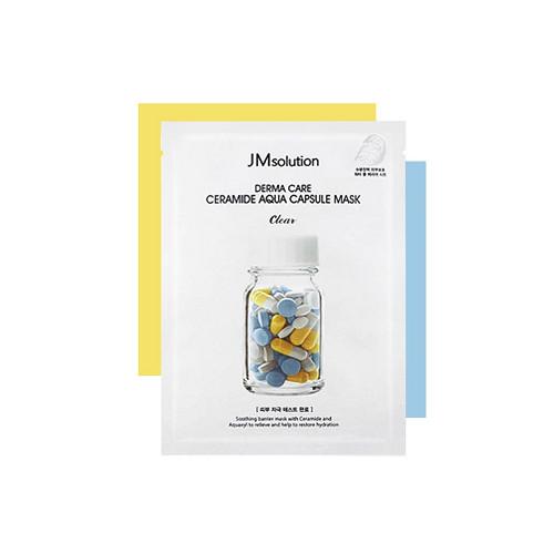 [ 10 miếng ] Mặt nạ phục hồi da hư tổn JMsolution Derma Care Ceramide Aqua Capsule Mask 30ml
