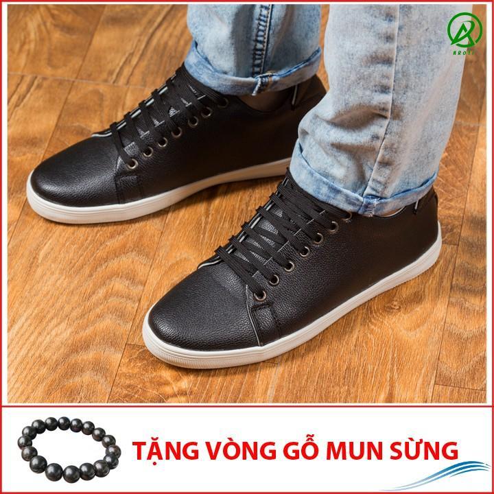 Giày Thể Thao Nam Màu Đen Tăng Chiều Cao 6Cm Không Hề Lộ Cực Đẹp - Cực Chất - M360-DEN(GM)- Kèm Vòng Gỗ Mun