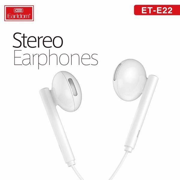 Tai nghe Earldom ET-E22 HÀNG CHÍNH HÃNG 100% màu trắng hoặc đen (ngẫu nhiên)