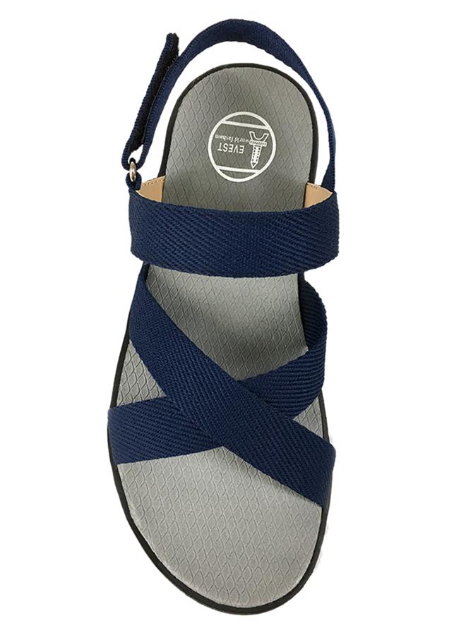 Giày Sandal Nam 3 Quai Ngang Chéo Everest EV14 A248 (Xanh Đậm)