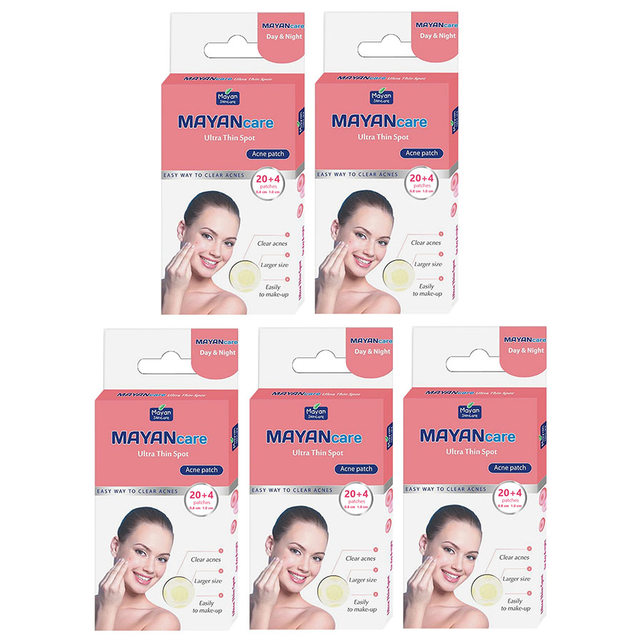 Combo 5 Miếng Dán hỗ trợ điều trị Mụn Mayancare 20 Miếng (0.8cm)