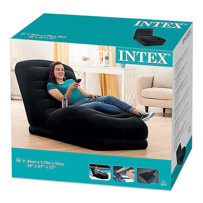 Ghế hơi tựa lưng INTEX cao cấp 68595(Kèm bơm điện)