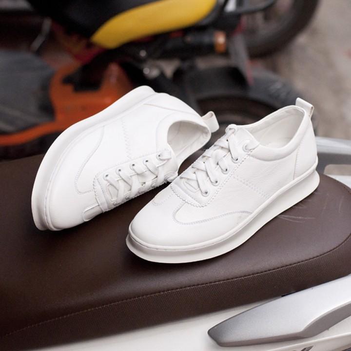 Giày sneaker W Trắng mới T455(L)-TRANG