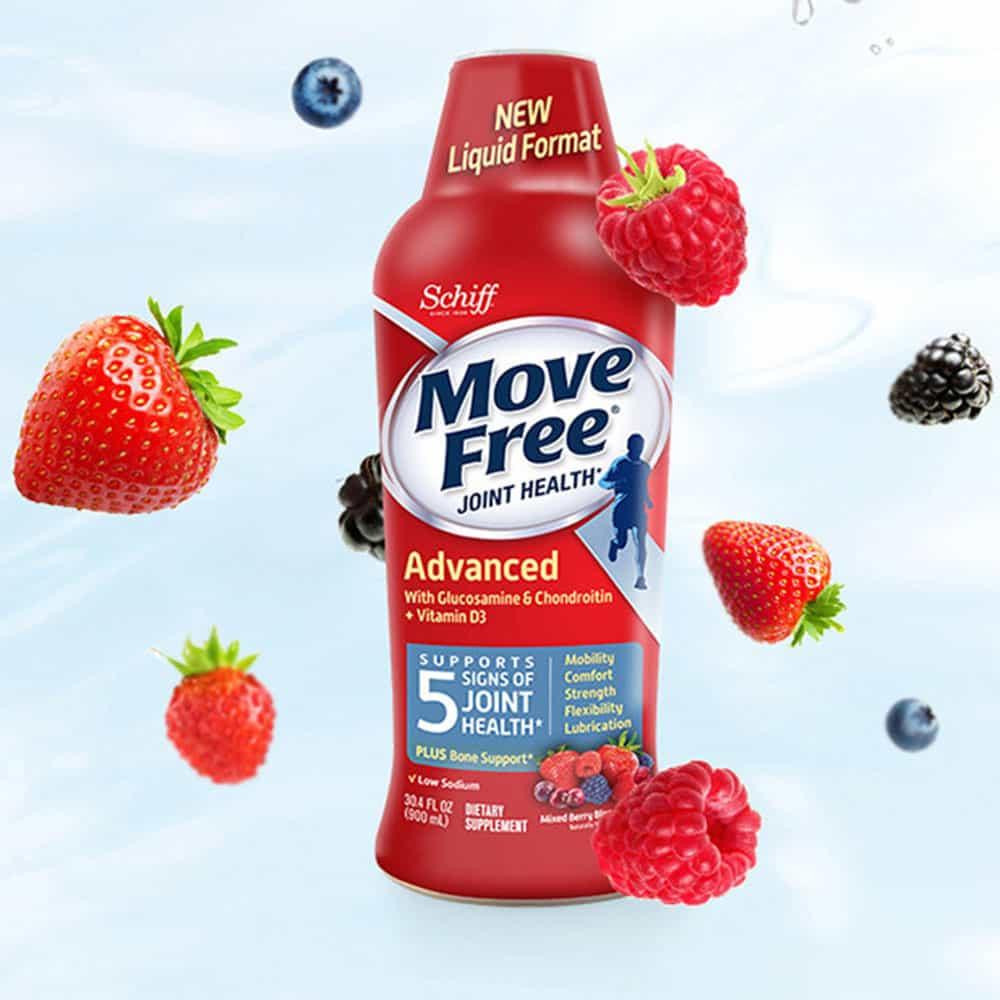 Nước uống bổ khớp Schiff Move Free Advanced Glucosamine Chondrotin Vitamin D3 900ml