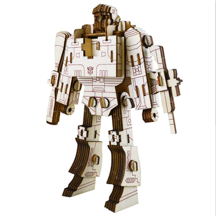 Đồ chơi lắp ráp gỗ 3D Mô hình Robot Megatron