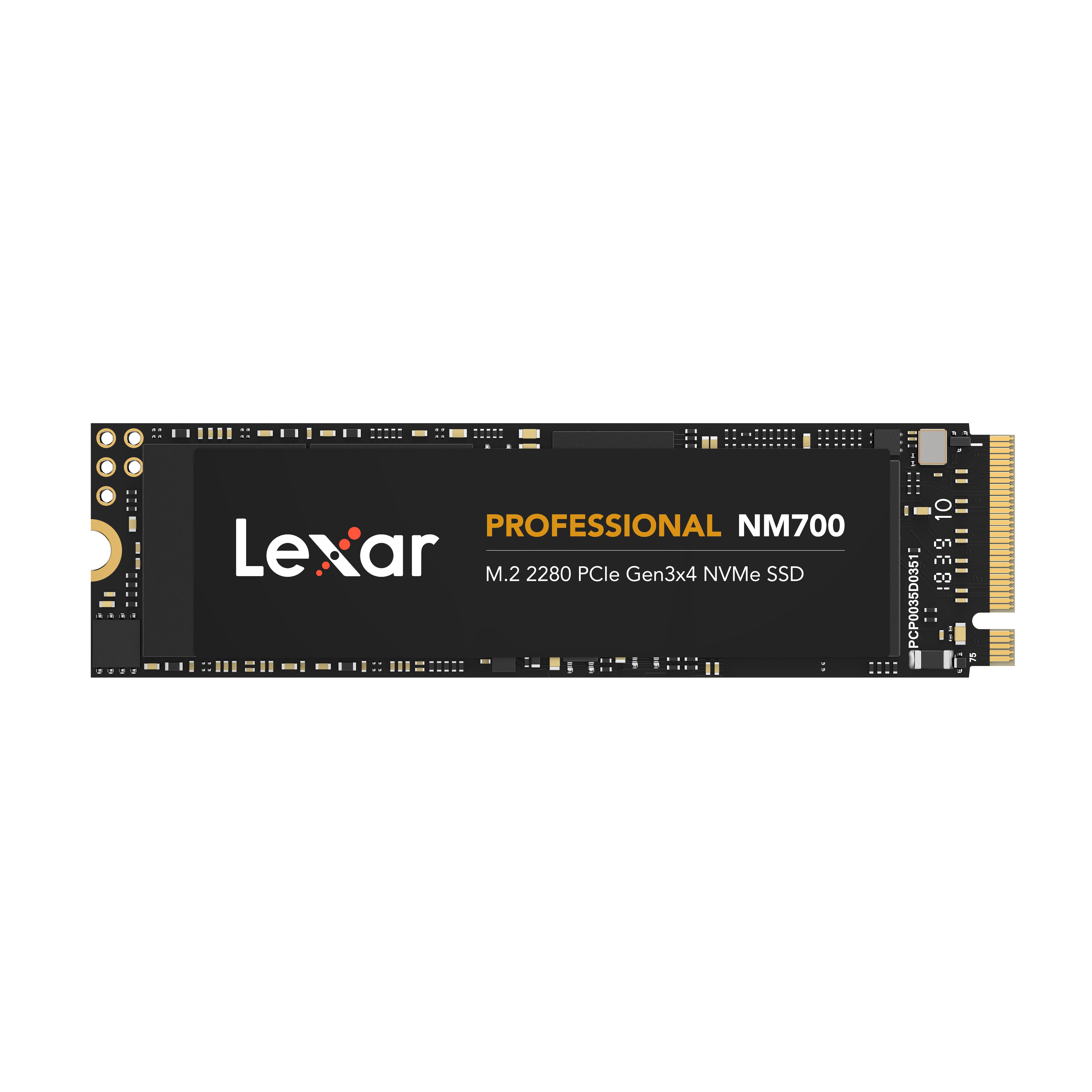 Ổ cứng SSD Lexar Professional NM700 256GB PCIe Gen3x4 M.2 2280 NVMe 3500MB/s - Hàng Chính Hãng