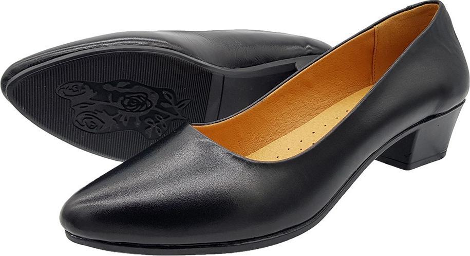 Giày Cao Gót Đế Vuông Cao 3cm Da Bò Thật Cực Mềm, Kiểu Dáng Đơn Giản Sang Trọng, Đi Thoải Mái, Êm Chân 3P0116 (Đen)