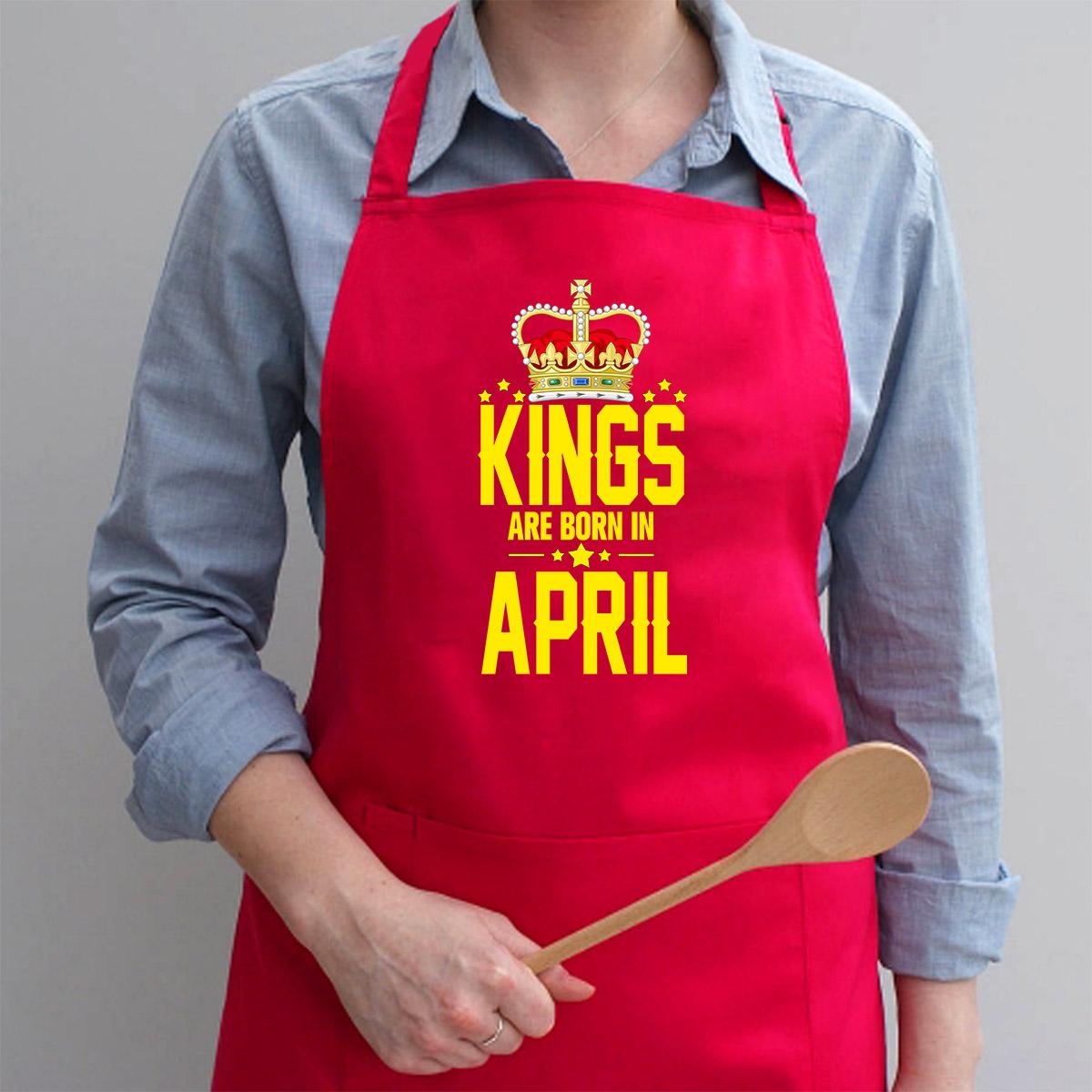 Tạp Dề Làm Bếp In họa tiết Các vị vua sinh vào tháng tư