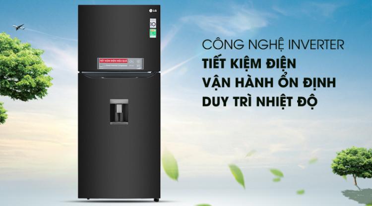 Tủ lạnh LG Inverter 393 lít GN-D422BL - Tiết kiệm điện lên 50% nhờ công nghệ Inverter