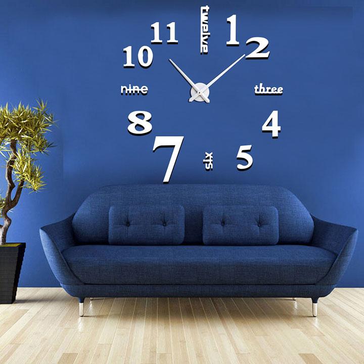 Đồng hồ treo tường trang trí 3D