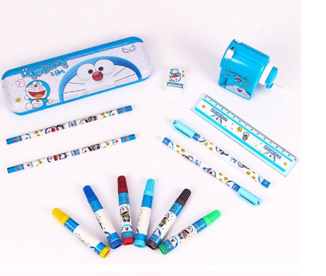 Bộ dụng cụ học tập 13 món hình doremon dành cho bé