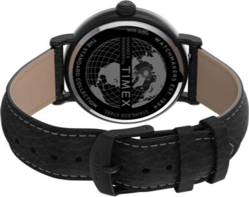 Đồng hồ Nam dây da màu đen Timex Standard TW2T91000 - 43mm