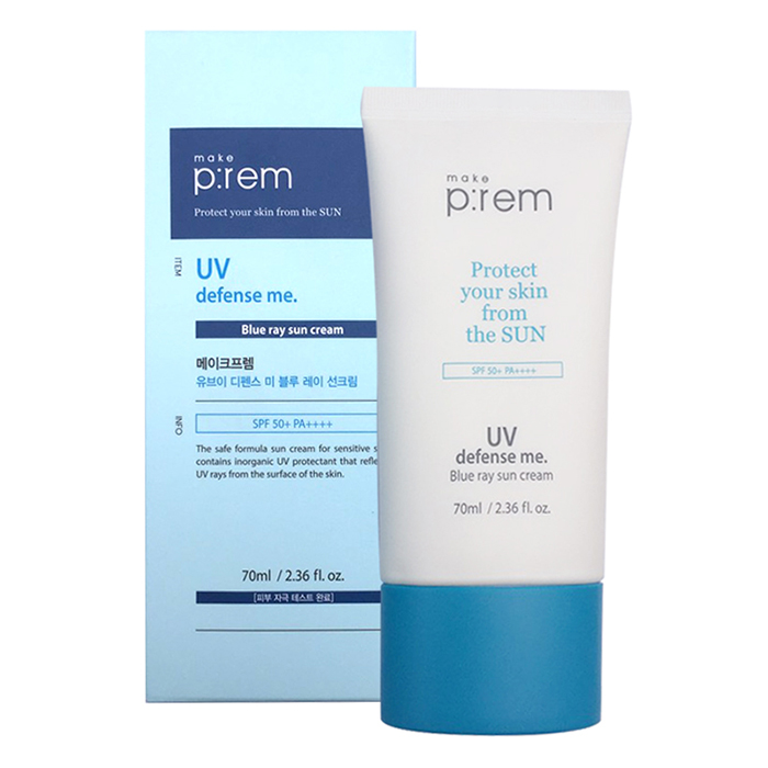 Kem Chống NắngMake P:rem UV Defense Me Blue Ray Sun Cream 70ml