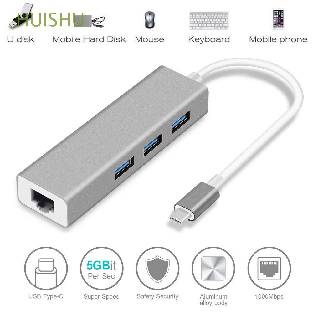 Bộ chia USB Type C sang RJ45 tốc độ cao cho Macbook Pro PC laptop