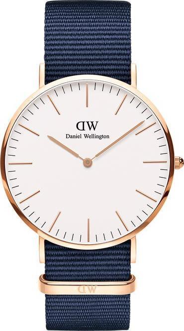 Đồng Hồ Nam Daniel Wellington Classic Bayswater Rose White 40mm DW00100275