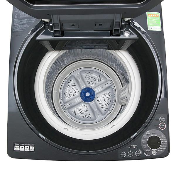 Máy Giặt Cửa Trên Sharp ES-W102PV-H (10.2kg) - Hàng Chính Hãng - Chỉ giao tại Hà Nội