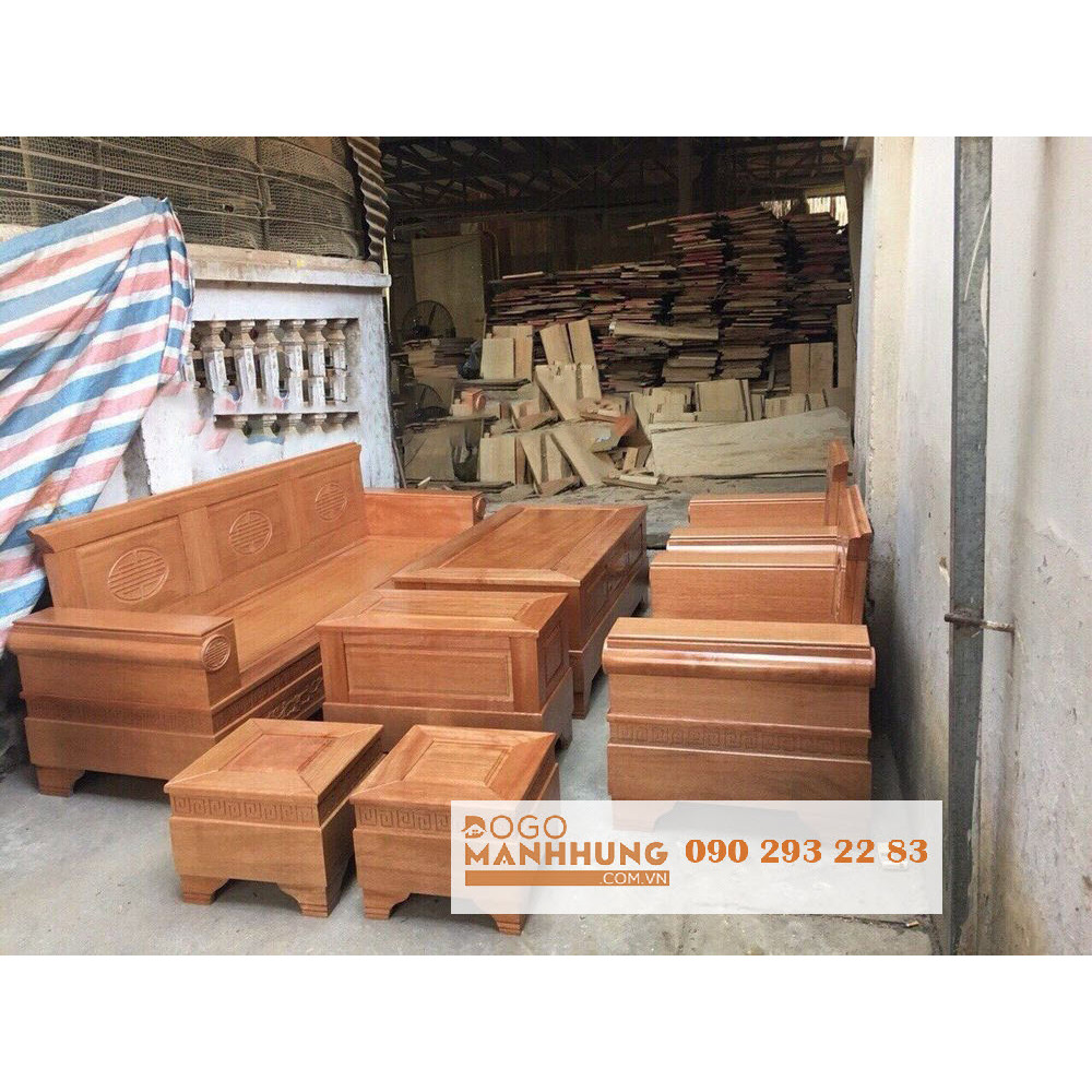 Bộ bàn ghế salon phòng khách gỗ sồi mẫu B13.9