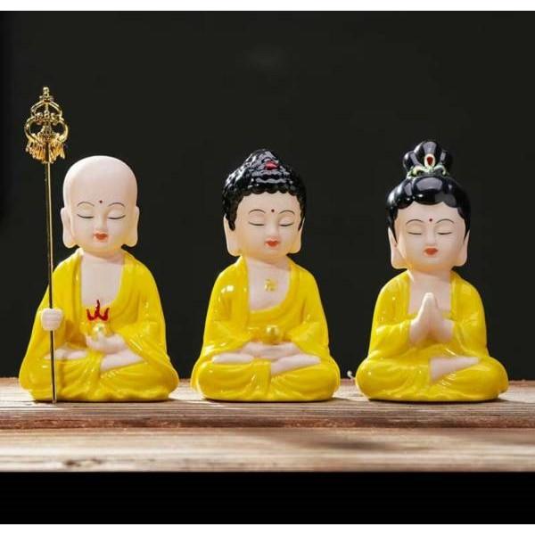 Bộ Tượng tam Thế Phật(Cao Tăng-Thích Ca-Bà Mẹ quan Âm)