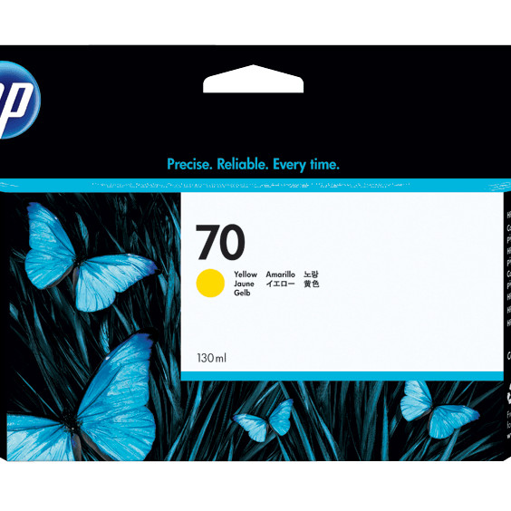 Mực in HP 70 Yellow 130 ml Ink Cartridge Use in selected HP DesignJet printers. -Hàng chính hãng