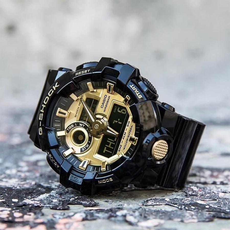 Đồng hồ nam dây nhựa Casio G-Shock chính hãng GA-710GB-1ADR (53mm)