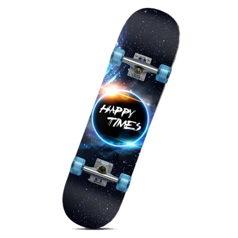 Ván trượt trẻ em có phát sáng Skateboard (Kèm phụ kiện)
