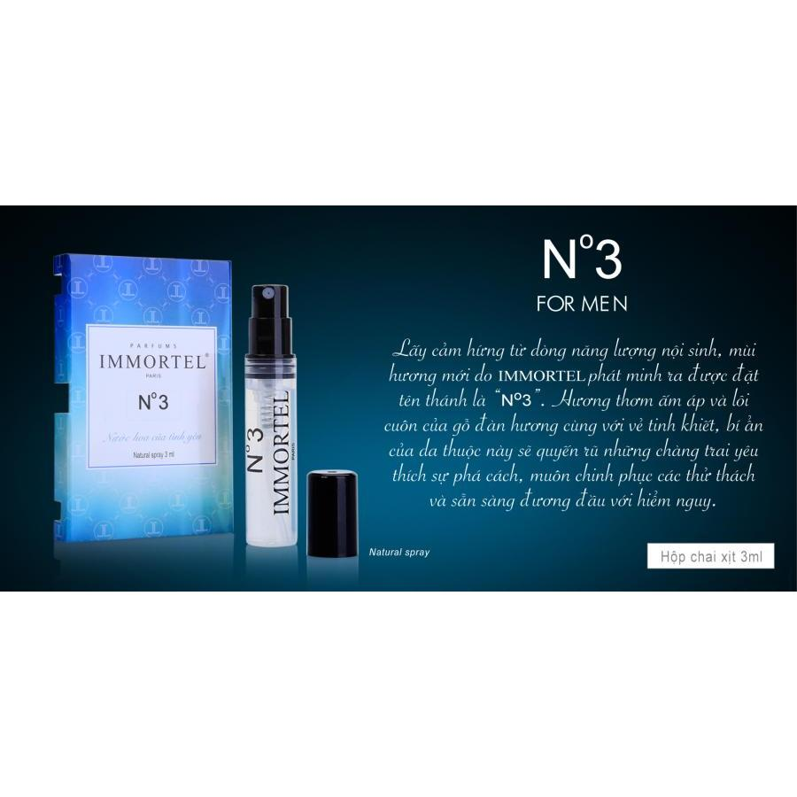 Nước hoa Nam IMMORTEL No3 Eau De Parfum 3ml