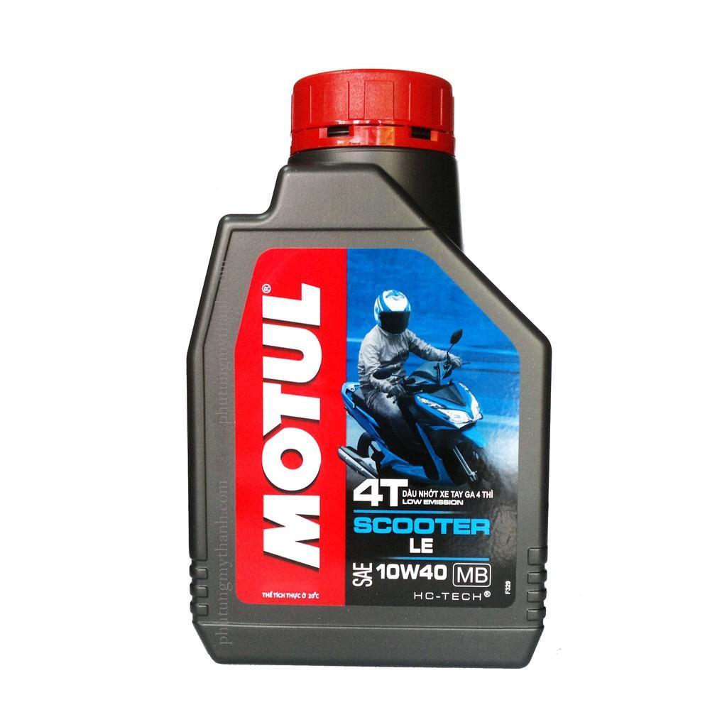 Motul Scooter 10W40 800ml tặng Motul Gear Oil 80W90 120ml nhớt hợp số nhớt máy xe tay ga