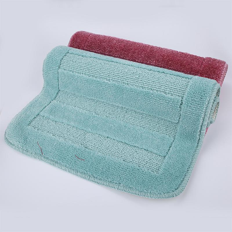 Thảm Chân Sàn Nhà Phòng Tắm Kẻ Sọc phong cách Hàn Quốc - màu ngẫu nhiên EM104