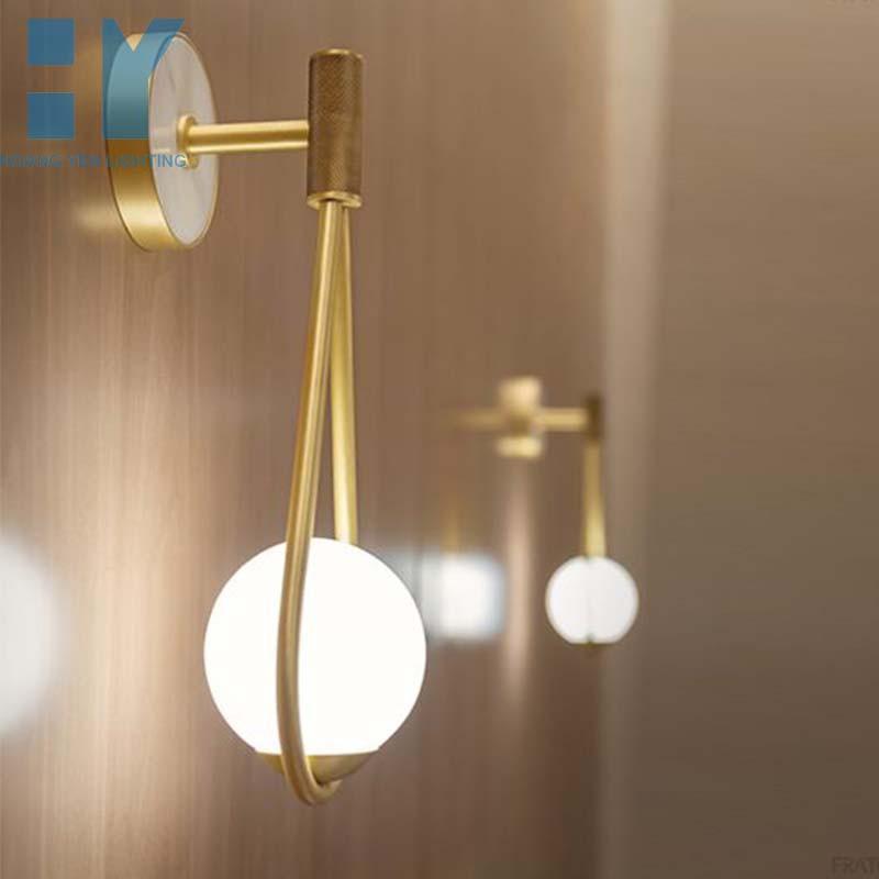 Đèn tường, đèn vách chao cầu decor hiện đại, sang trọng, Đèn tường trang trí, Đèn ngủ gắn tường HY1735.