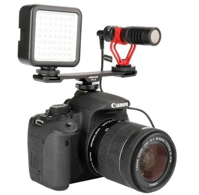 Đầu chuyển HotShoe Ulanzi PT-2 gắn flash, đèn led, micro hàng chính hãng